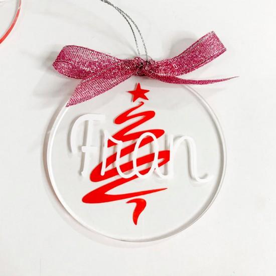Bolas de Navidad transparentes personalizadas