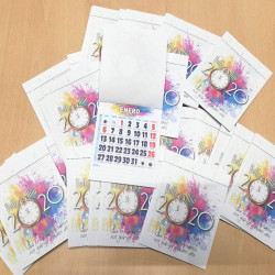 Faldilla para calendario de nevera