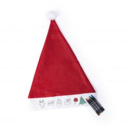 Gorro de Papá Noel infantil para pintar