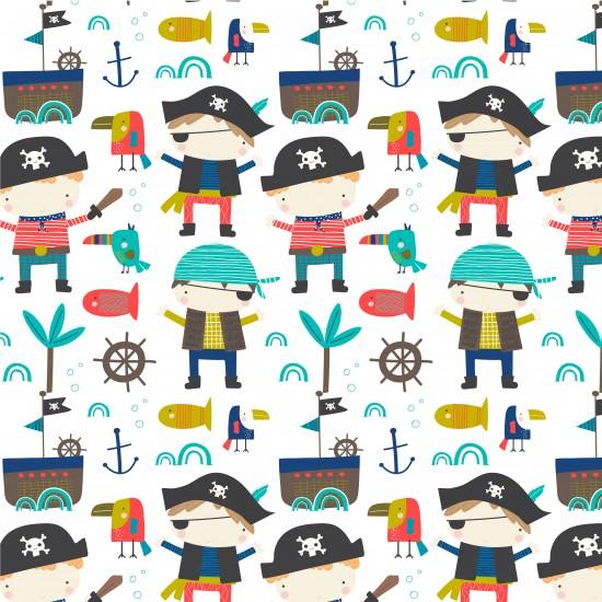Banderín con nombre Piratas