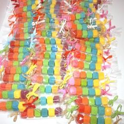Nombres en dados de jabón de glicerina