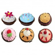 Bálsamos labiales en forma de cupcake (Sin caja)
