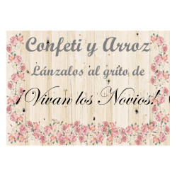 Cartel Confeti y Arroz