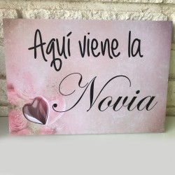 Cartel Aquí viene la Novia