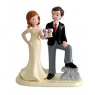 Figura casados 25 ANIVERSARIO para pastel