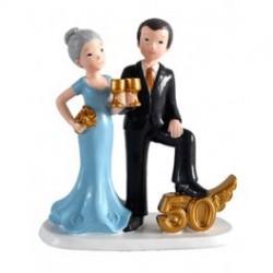 Figura casados 50 ANIVERSARIO para pastel