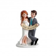 Figura Novios para pastel JUST MARRIED