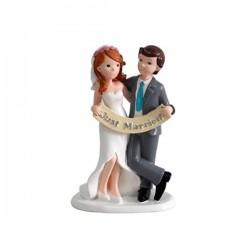 Figura Novios para pastel JUST MARRIED