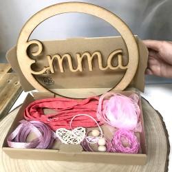 DIY Atrapasueños de madera personalizado Tonos rosa - salmón