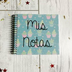 Libreta personalizada de 10x10 Mis notas cactus
