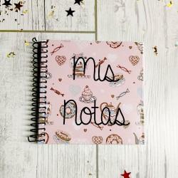 Libreta Mis notas Modelo cupcake de 10x10