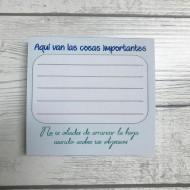 Taco de notas Modelo COSAS IMPORTANTES