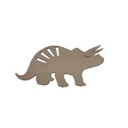 Die-cut Dino triceratops