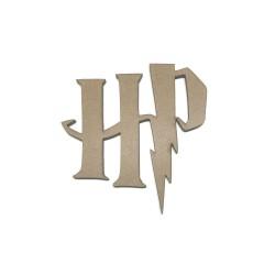 Letras HP de Harry potter en madera