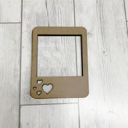 Marcos de madera corazones para foto de 10x10