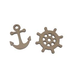 Set marinero Ancla y Timón