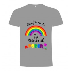 Camiseta solidaria Iniciativa Arcoiris Gris Niño/a