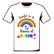 Camiseta solidaria Iniciativa Arcoiris Blanca