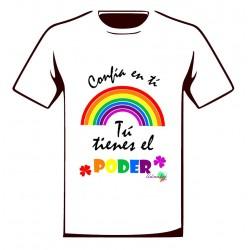 Camiseta solidaria Iniciativa Arcoiris Blanca Adulto