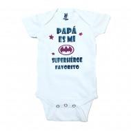 Body con frase Papá es mi superhéroe favorito