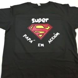 Camiseta Super papá en acción