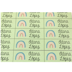 Etiquetas para marcar objetos Arco Iris