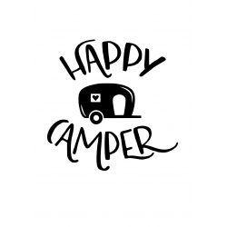 Vinilo decorativo happy camper