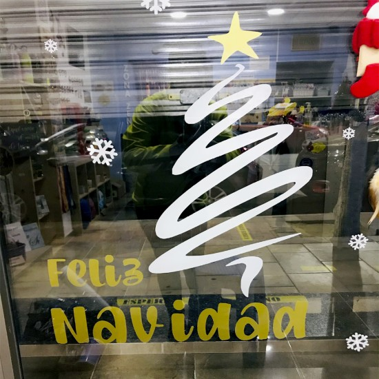 Vinilo decorativo Feliz navidad