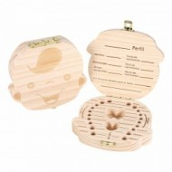 Cajita de madera para guardar dientes