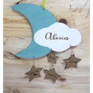 Natalicio de Nube + Luna en madera