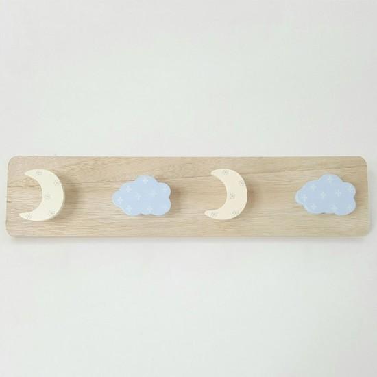Perchero infantil Nubes y Lunas