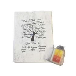 Lienzo huellas para profes + regalo tinta