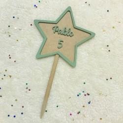 Cake topper estrella personalizada