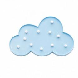 Lámparas con luces led en forma de Nube azul