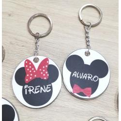 Llaveros de Mickey o Minnie con tu nombre