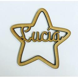 Estrellas de madera con tu nombre