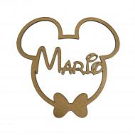 Cabeza de Mickey/Minnie con tu nombre