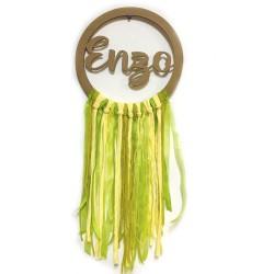 Atrapasueños personalizado Tonos Amarillo-Verde