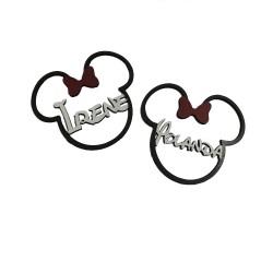 Cabeza de Mickey/Minnie pequeño con tu nombre