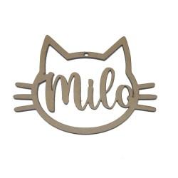 Silueta gatito personalizado en madera DM