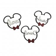 Silueta de la cabeza de Mickey/Minnie con tu nombre