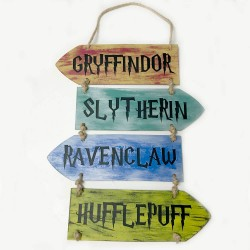 Cartel decorativo  de madera Harry Potter