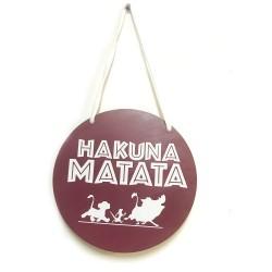 Cartel Rey León Hakuna Matata