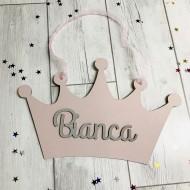Corona decorativa personalizada rosa