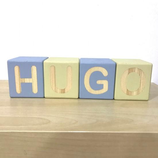 Cubos de madera Nombres