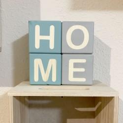 Cubos de madera HOME