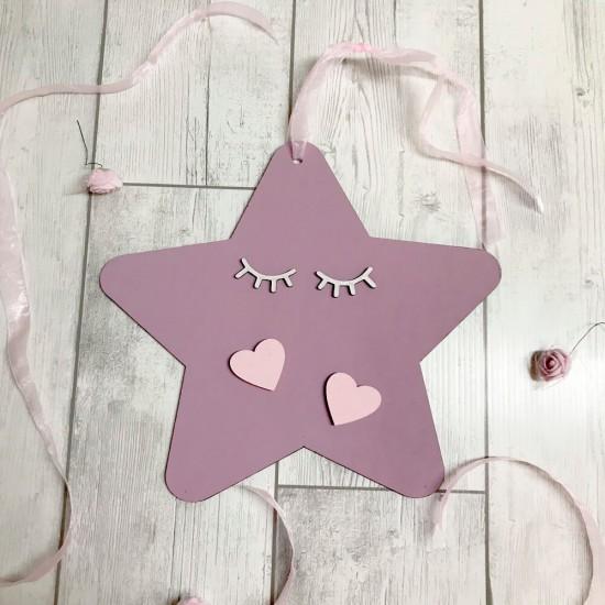 Estrella decorativa en madera
