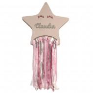 Atrapasueños Estrella rosa personalizada
