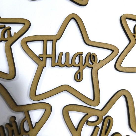 Estrellas con tu nombre 90 mm