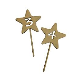 Toppers para tarta con número en forma de estrella